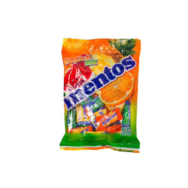 MENTOS FRUIT MIX CHEWY DRAGEES 50S