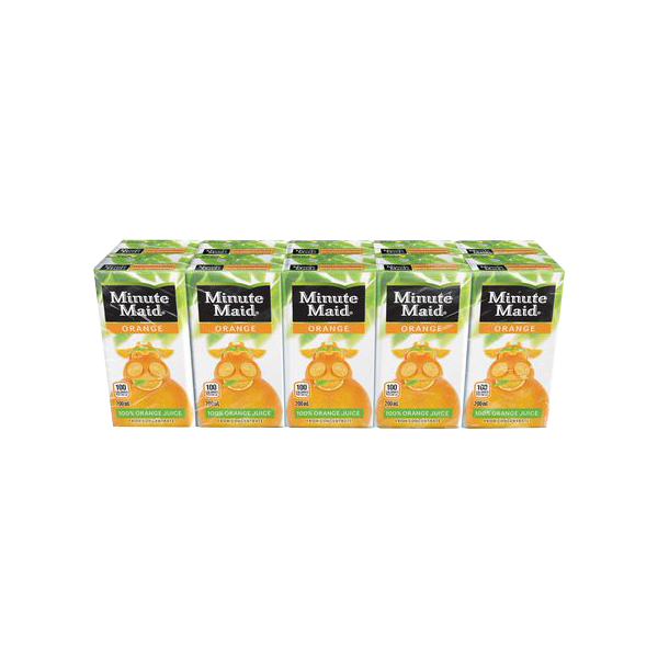 MINUTE MAID FRESH ORANGE JUICE DRINK 200MLX10S