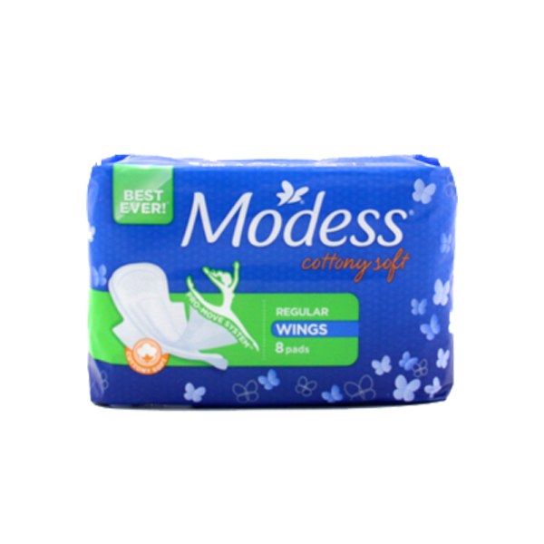 MODESS NAPKIN COTTONY SOFT REGULAR W/ WINGS 8S