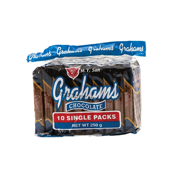M.Y. SAN GRAHAMS CHOCOLATE 25GX10S