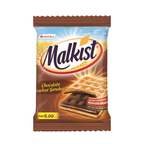 MAYORA MALKIST CHOCOLATE CRACKER SANDWICH 24GX10+1
