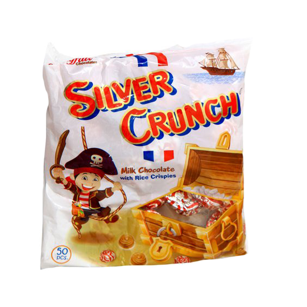 MAYFAIR SILVER CRUNCH MILK CHOCOLATE 300S