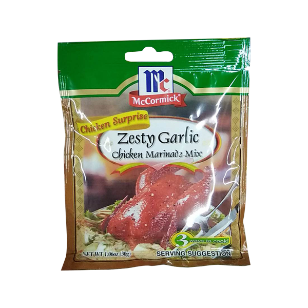 MCCORMICK ZEST GARLIC CHICKEN MARINADE MIX 30G