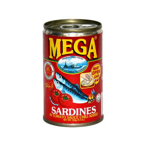 MEGA SARDINES IN TOMATO SAUCE W/CHILI (HOT) EASY OPEN CAN 155G