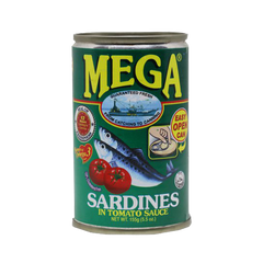 MEGA SARDINES TOMATO SAUCE REGULAR EASY OPEN CAN 155G
