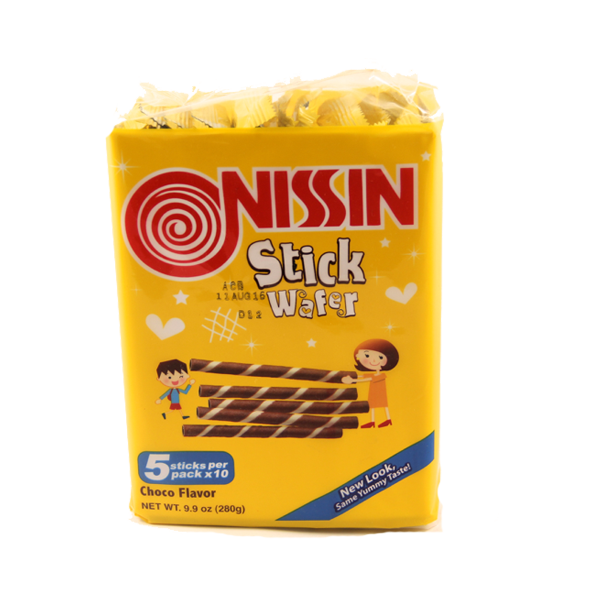 NISSIN STICK WAFER CHOCO FLAVOR 28GX10S