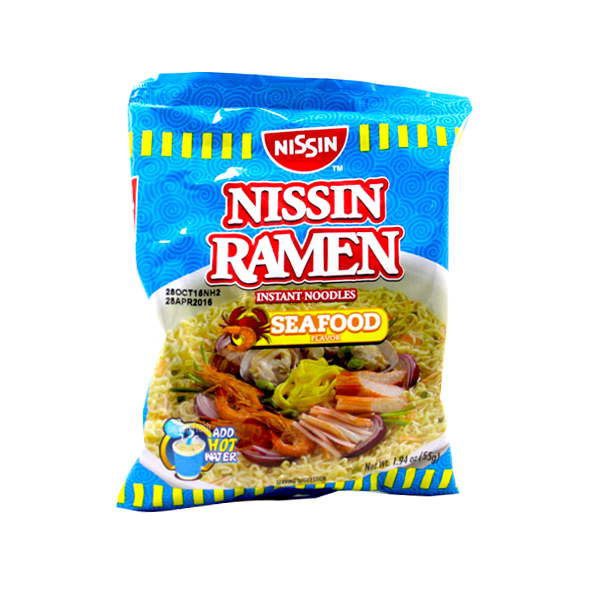 NISSIN RAMEN NOODLE MIXED SEAFOOD 65G\55G