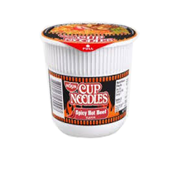 NISSIN CUP NOODLES SPICY HOT BEEF FLAVOR 45G