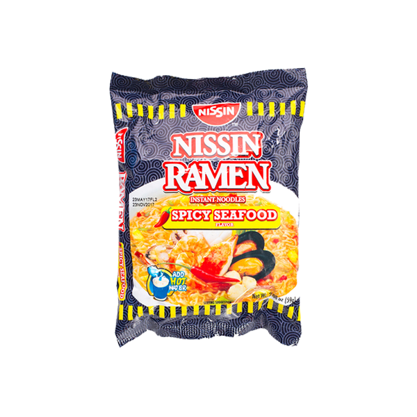 NISSIN RAMEN INSTANT NOODLES SPICY SEAFOOD FLAVOR 59G