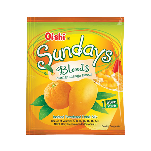 OISHI SUNDAYS BLENDS ORANGE MANGO 45G/35G