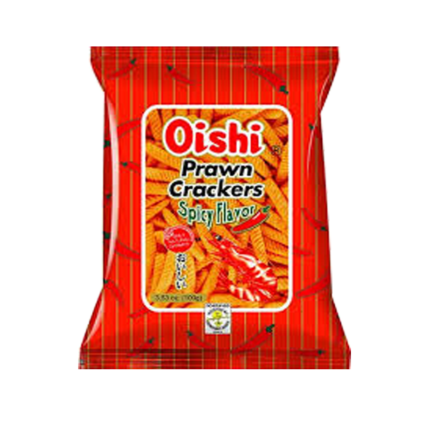 OISHI PRAWN CRACKER SPICY FLAVOR 90G