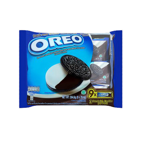 OREO DARK & WHITE CHOCOLOTE BISCUITS 29.4Gx9S