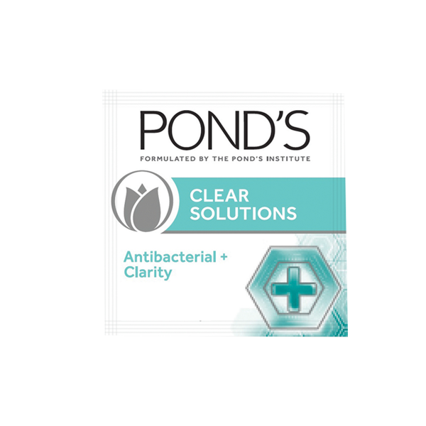 PONDS FACIAL CLEANSER CLEAR SOLUTIONS ANTI BACTERIAL FACIAL SCRUB 7G/6GX6