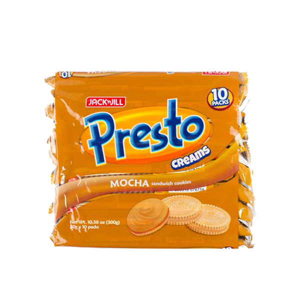 PRESTO CREAMS COFFEE MOCHA COOKIES 30GX10S