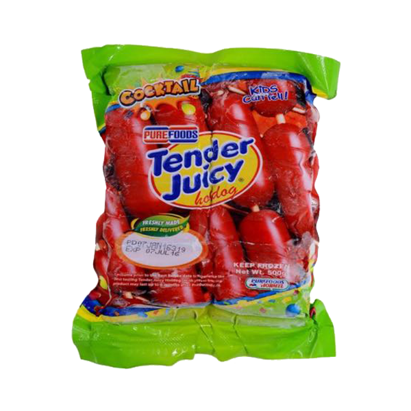 PUREFOODS TENDER JUICY HOTDOG COCKTAIL 500G