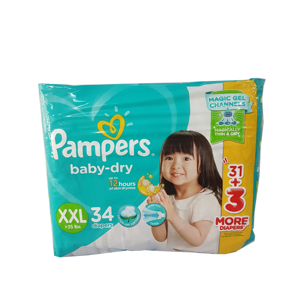 PAMPERS BABY DRY VALUE PACK XXL 22S