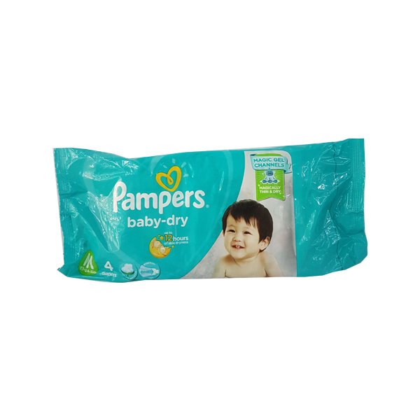 PAMPERS BABY DRY MEDIUM 4S