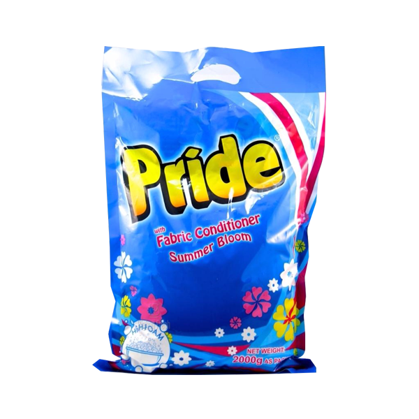 PRIDE DETERGENT POWDER WITH FABRIC CONDITIONER 2KG