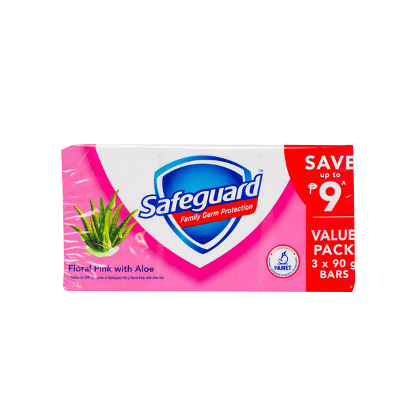SAFEGUARD BAR PINK ULTRA TRIPID PACK 90G 3S