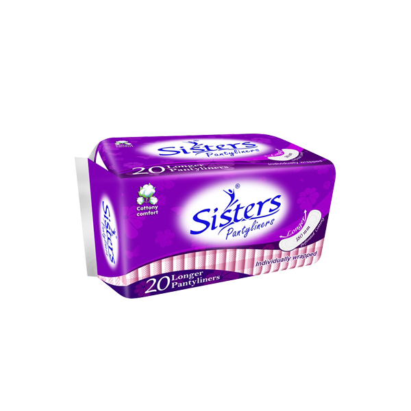 SISTERS PANTYLINERS LONGER 20S
