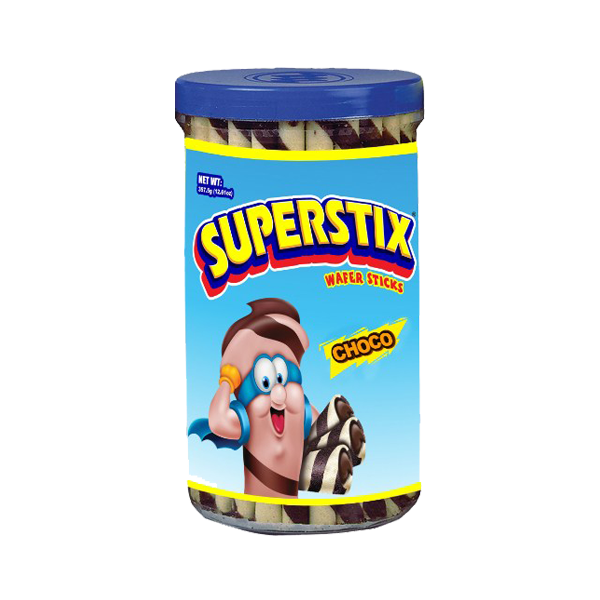 SUPERSTIX SUPER LONG WAFER CHOCOLATE 402G/357.5G
