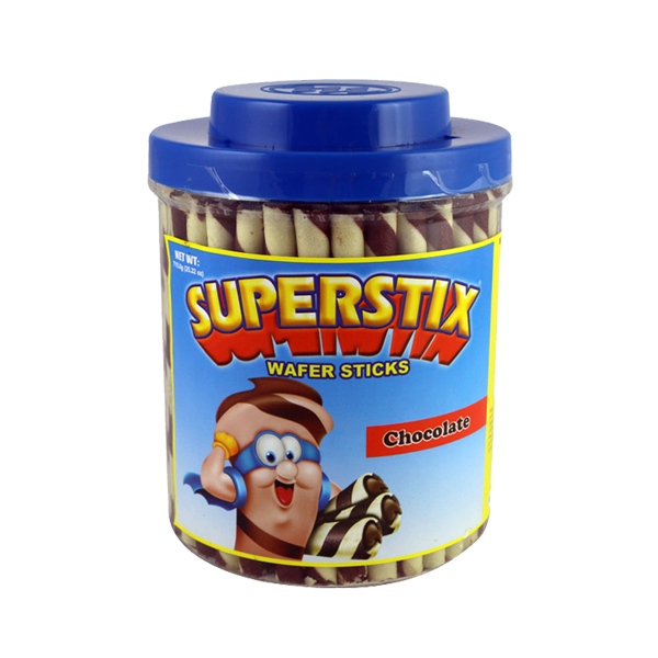 SUPERSTIX SUPER LONG WAFER CHOCOLATE 804G JAR