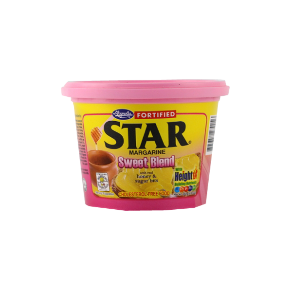STAR MARGARINE FORTIFIED SWEET BLEND W/REAL HONEY&SUGAR BITS 250G