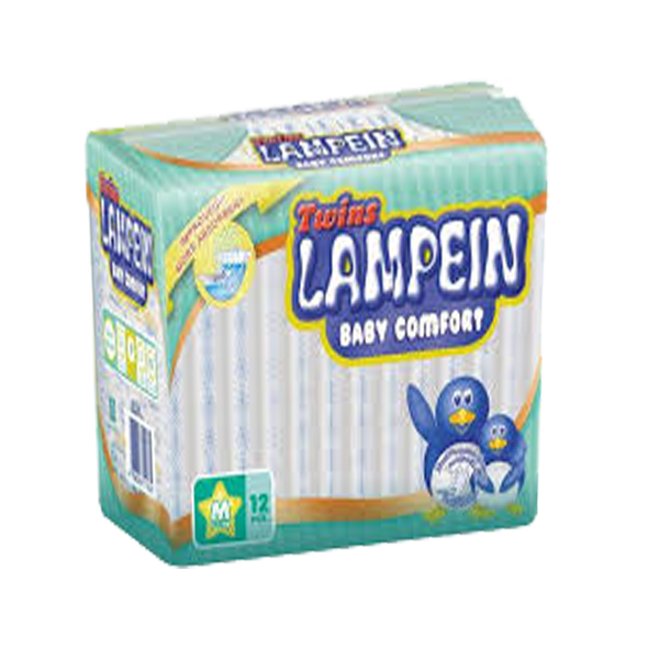 LAMPEIN BABY BSIC DIAPER MEDIUM 12S