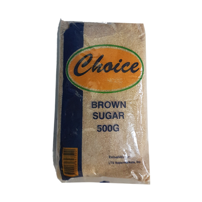 CHOICE SUGAR BROWN 500G