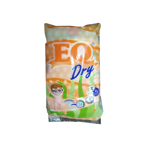 EQ DRY DISPOSABLE DIAPER  X LARGE 4S