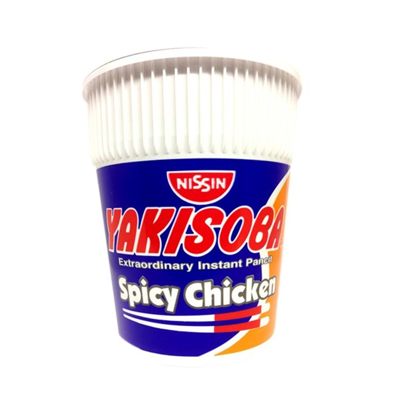 NISSIN YAKISOBA EXTRA ORDINARY INSTANT PANCIT SPICY CHICKEN 77G