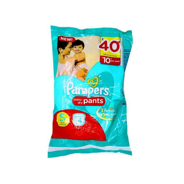PAMPERS BABY DRY SMALL 4S