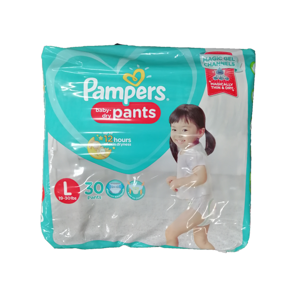 PAMPERS BABY PANTS LARGE 30S