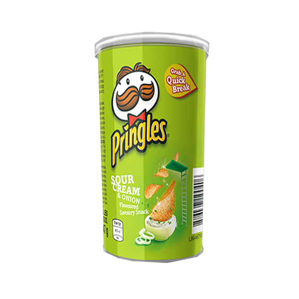 PRINGLES SOUR CREAM AND ONION POCKET CAN 47G