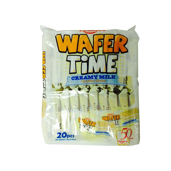 REBISCO WAFER TIME VANILLA WAFER CREAMY MILK 20'S