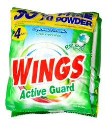 WINGS ACTIVEGUARD DETERGENT POWDER 40G+30% MORE