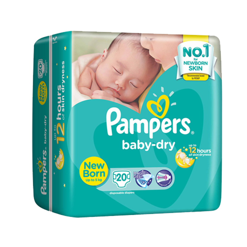 PAMPERS BABY DRY NEW BORN 20S