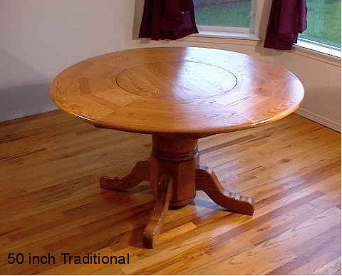 LST-50  Traditional Style Lazy Susan Table (Empire legs)