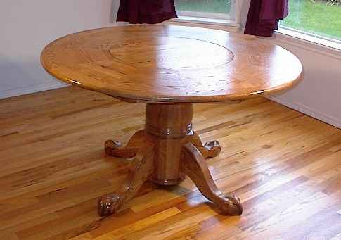 LST-50  Traditional Style Lazy Susan Table (Ball and Claw legs)