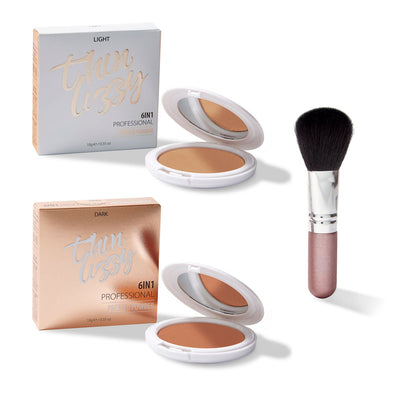 6in1 Professional Powder - Buy One Get One Free! + Free Flawless Fibre Brush