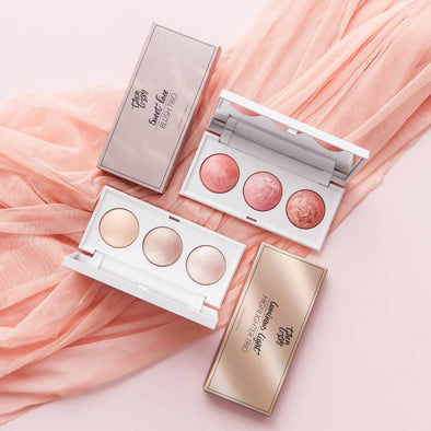 Sweet Cheeks - Luminous Light Highlighter Trio + Free Sweet Face Blush Trio.