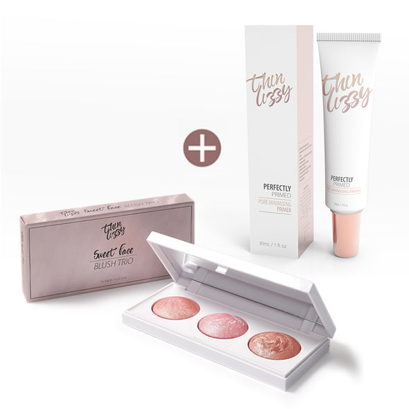 Sweet Face Blush Trio with Free Perfectly Primed Pore Minimising Primer