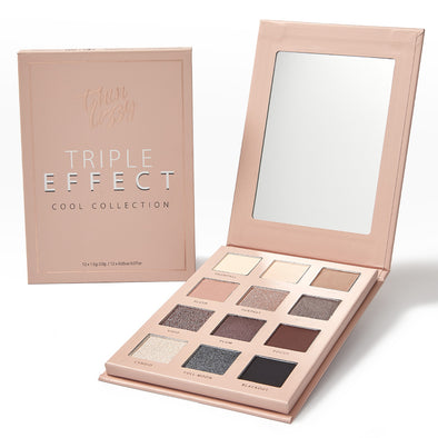 Triple Effect Eyeshadow - Cool Collection - 3D Texture Technology Transforms 12 Shades Into 36!