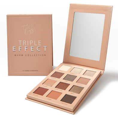 Triple Effect Eyeshadow - Warm Collection - 3D Texture Technology Transforms 12 Shades Into 36!