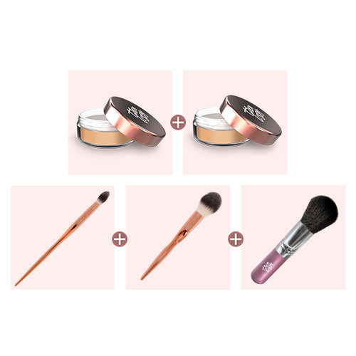 Loose Mineral Foundation - Buy One Get One Free + Free Flawless Finish Brushes. Total Value $129.95, Now Only $29.99!