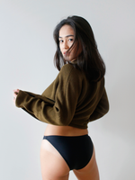 Zinia Bottoms in Charcoal