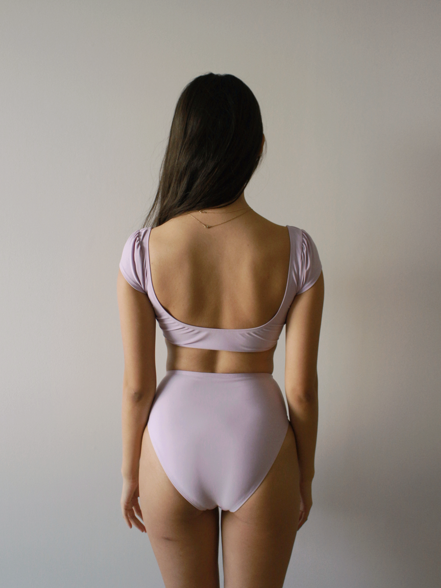 Ida High Waist Bottoms in Taro