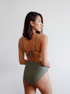 Ida High Waist Bottoms in Olive