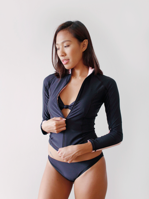 Zari Rashguard in Blush