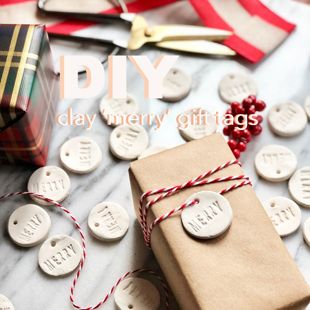 How To: DIY Clay Merry Gift Tags